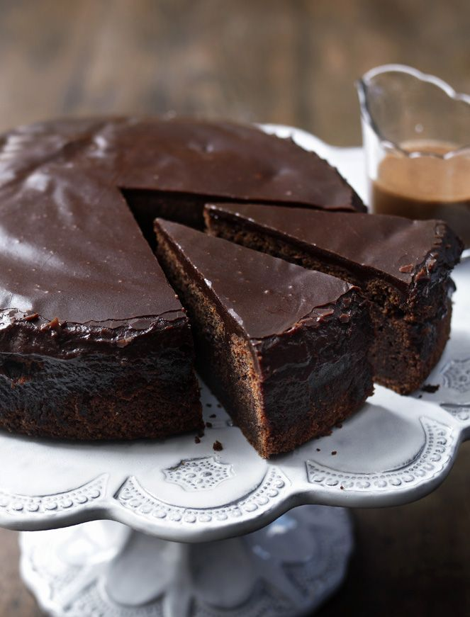 Cola is the secret ingredient that makes this cake so moist and delicious. Served with chocolate caramel sauce for extra points.