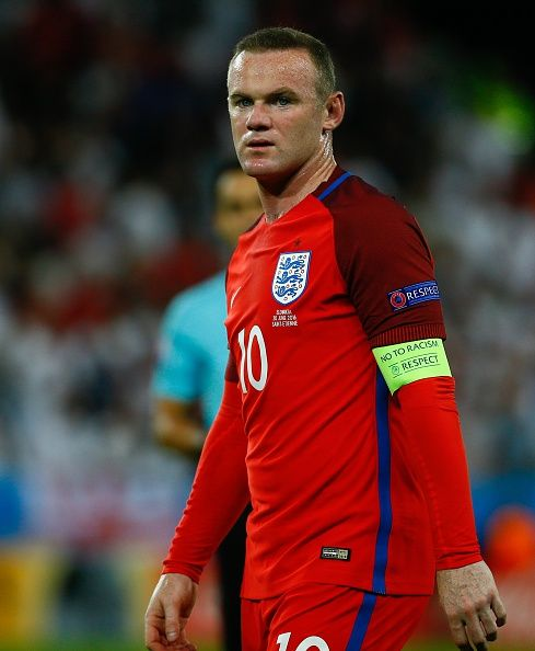 #EURO2016  Wayne Rooney of England is seen during the UEFA EURO 2016 Group B match between Slovakia and England at Stat Geoffroy Guichard in SaintEtienne France...