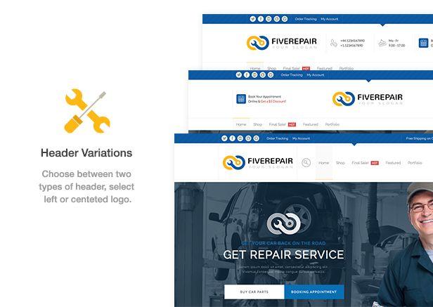 456 Repair – Mechanic Shop & Garage / Workshop / Car Service Theme