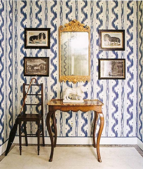 Toile De Nantes by Pierre Frey. To purchase, visit your nearest Ring's End design and decor showroom! #PierreFrey #Wallpaper #RingsEnd