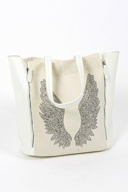 MARITT TASKE - Signature bag with faux silmili wings.