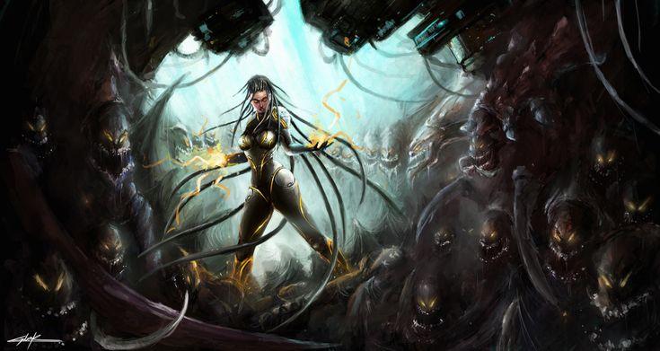 starcraft 2: heart of the swarm sarah kerrigan by ~VitoSs on deviantART