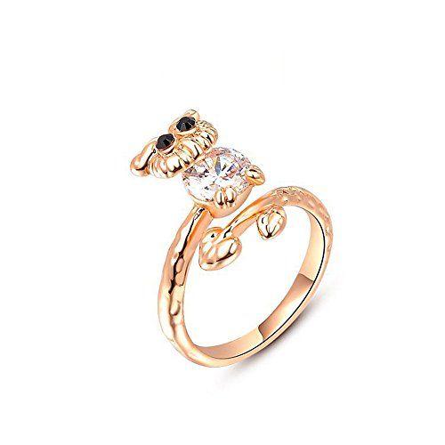 * Penny Deals * - Winter.Z Noble and Elegant Ladies Jewelry Popular Explosion Models Rose Gold Owl Ring Wedding *** For more information, visit image link.
