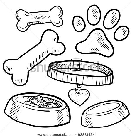 Free Dog Bone Clipart 39185 also Hand Drawn Cute Girl Ponytail likewise Horse Scene Colouring Page further Akc standard skeleton together with ic Knochen 16051397. on dog bone