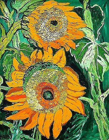 John Bratby Kitchen Sink | John Bratby Sunflowers 20th century - still life quick heart