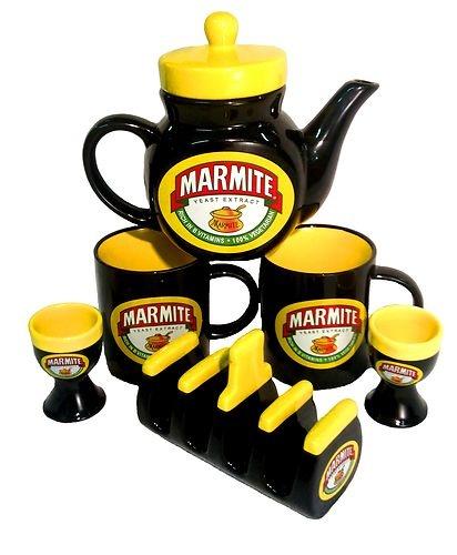 Marmite New Mega Breakfast Set Teapot Toast Rack Egg