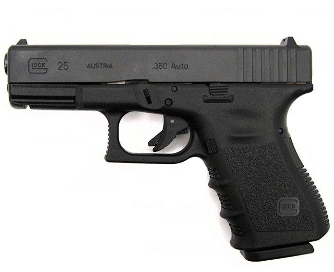 Pistola Glock G25 Cal .380 ACP 15 1 Oxidada   3 Carregadores   Mira Noturna (Tritium)