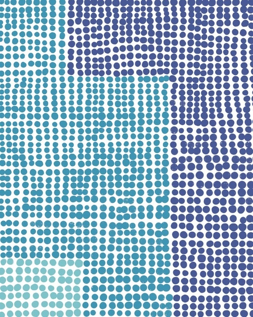 """Favorite form of meditation: an all-dot drawing. This one inspired by some tilework at LAX terminal 3.16"""" x 20"""" Fine Art Print. $80."""
