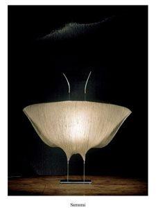 """""""Samurai"""" table lamp by Ingo Maurer, 1998."""
