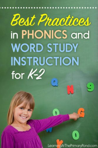 Wondering how to teach phonics in Kindergarten, first, or second grade? Check out this post for a summary of best practices!