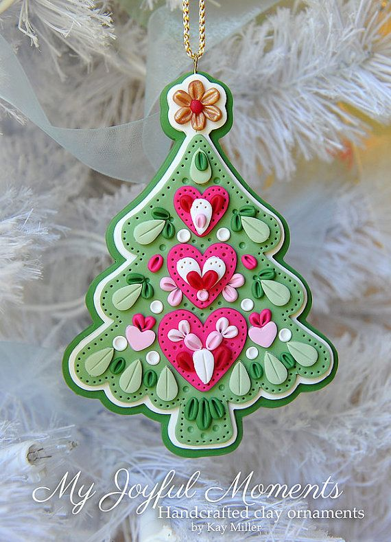 Handcrafted Polymer Clay Ornament by Kay Miller on Etsy $15
