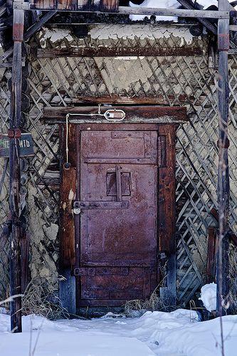 Reinforced Gulag jail door, Topolinoe, Yakutia, Russia