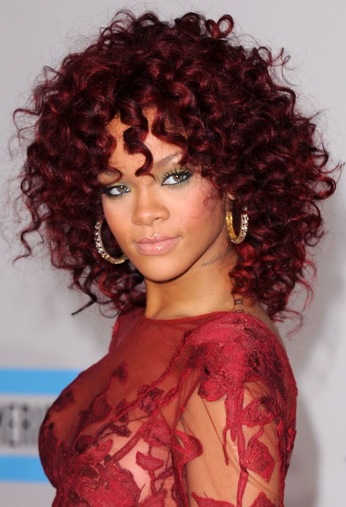 Rihanna -Red Hair beauty