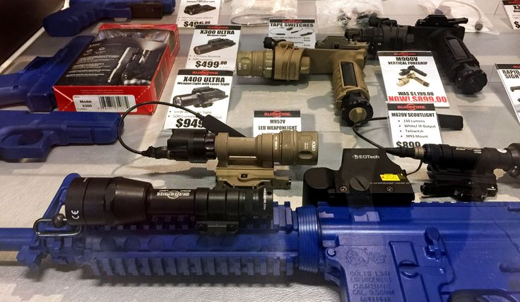 Tactical Solutions store showing Surefire rifle lights and torches