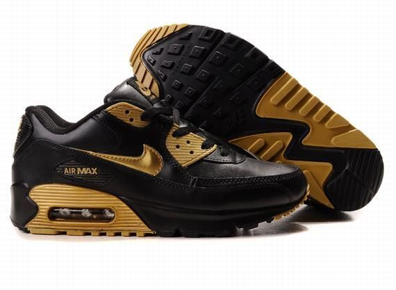 black and gold air max 90