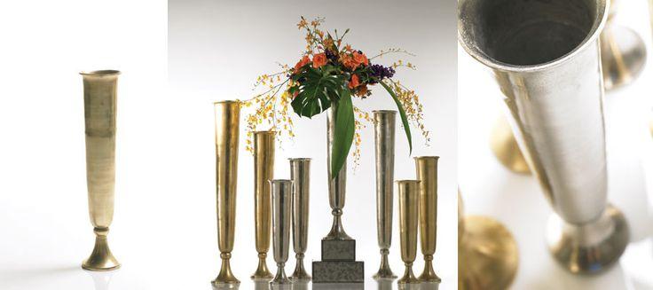 Accent decor milan vase quot x gold rosa and matt