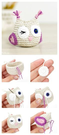 Get The Pattern Here: DIY Crocheted Owls with Free Patterns