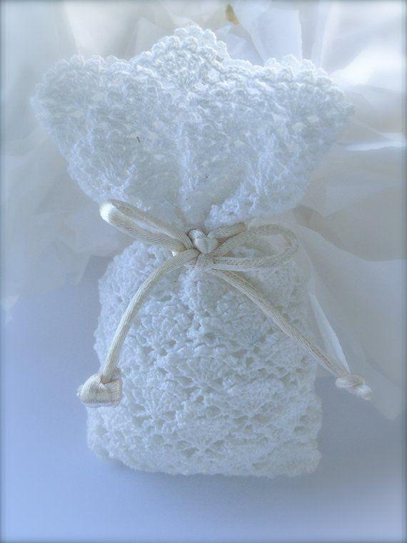Items Op Etsy Die Op Crochet Wedding Favor Baby Shower White Bag