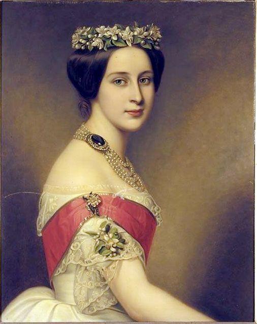 Grã-duquesa Alexandra Iosifovna da Rússia, por Joseph Karl Stieler.