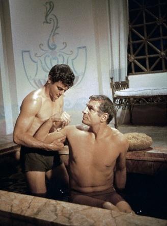 Spartacus de Stanley Kubrick (1960) avec Laurence Olivier et Tony Curtis