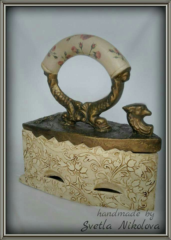 Ceramic box-iron. Handmade by Svetla Nikolova