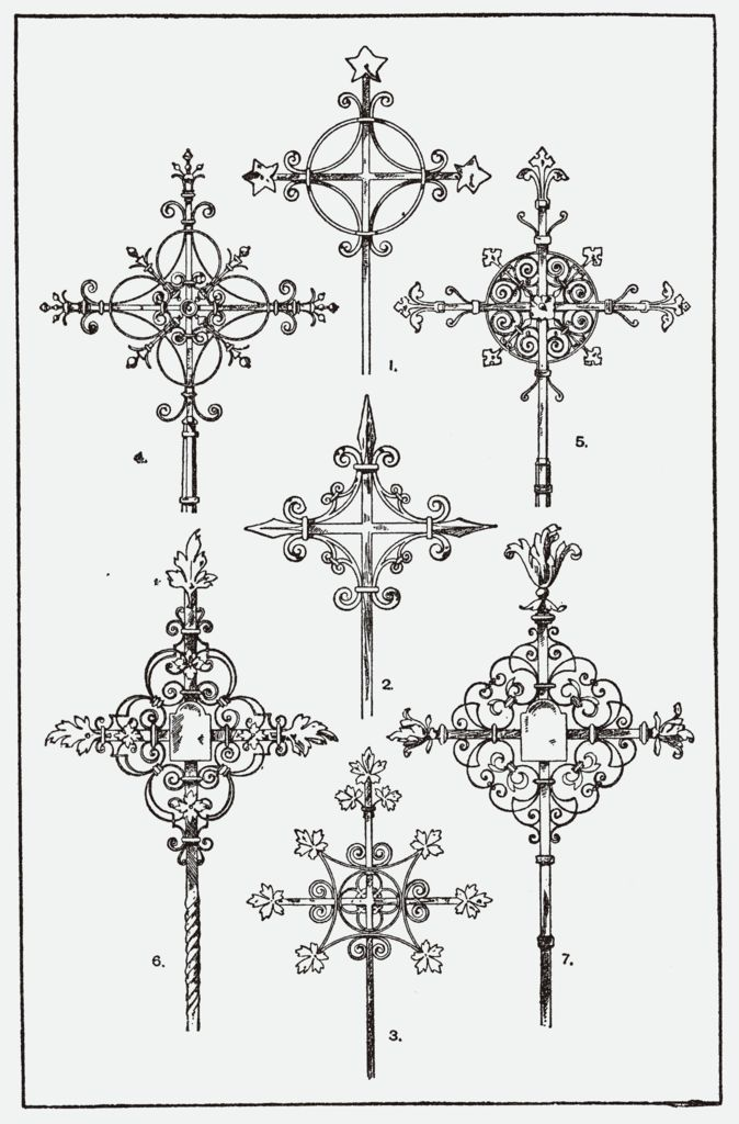 Meyer's Ornament - Orna110-Schmiede-kreuz