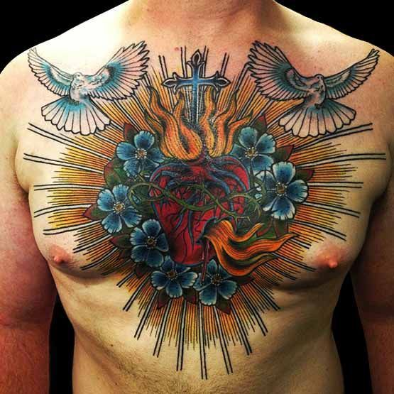1363 Best Chest Tattoos Images On Pinterest: 70 Best Images About Chest Tattoos For Men On Pinterest