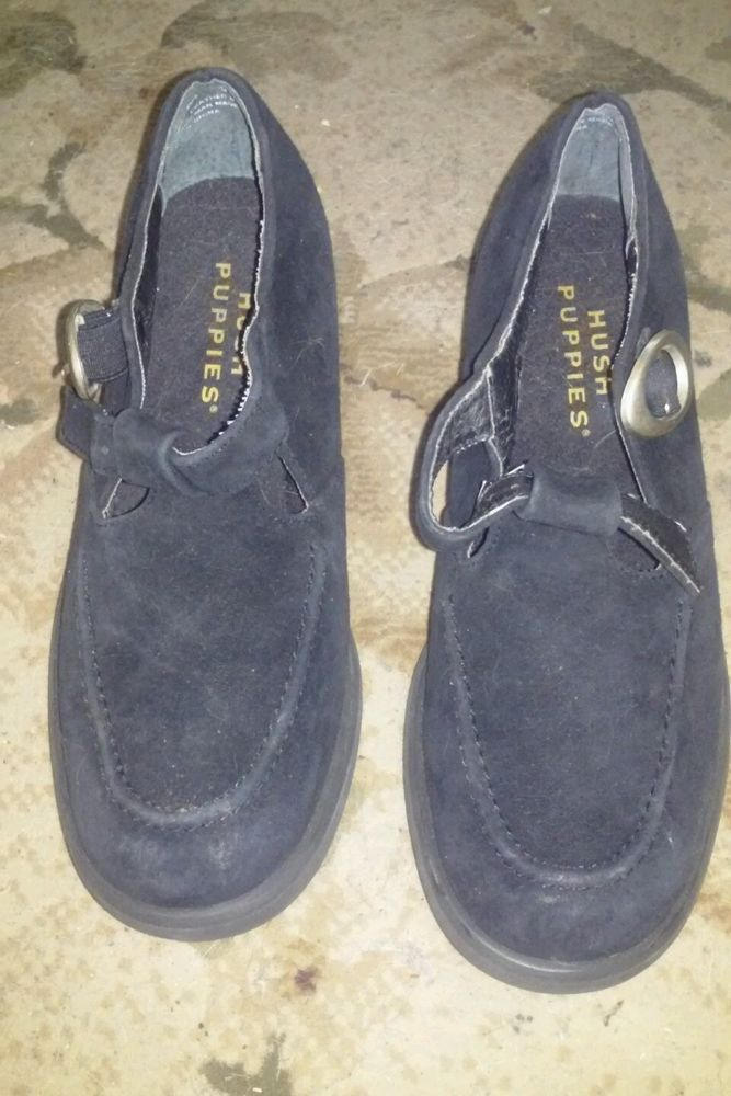 Women's Black Hush Pupies Shoes Casual Dress Size 6 1/2 Medium in Clothing, Shoes & Accessories, Women's Shoes, Flats & Oxfords   eBay