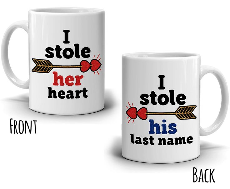 His and Her Couples Gift Coffee Mug, Romantic Wedding Gifts Coffee Cup, Printed on Both Sides!