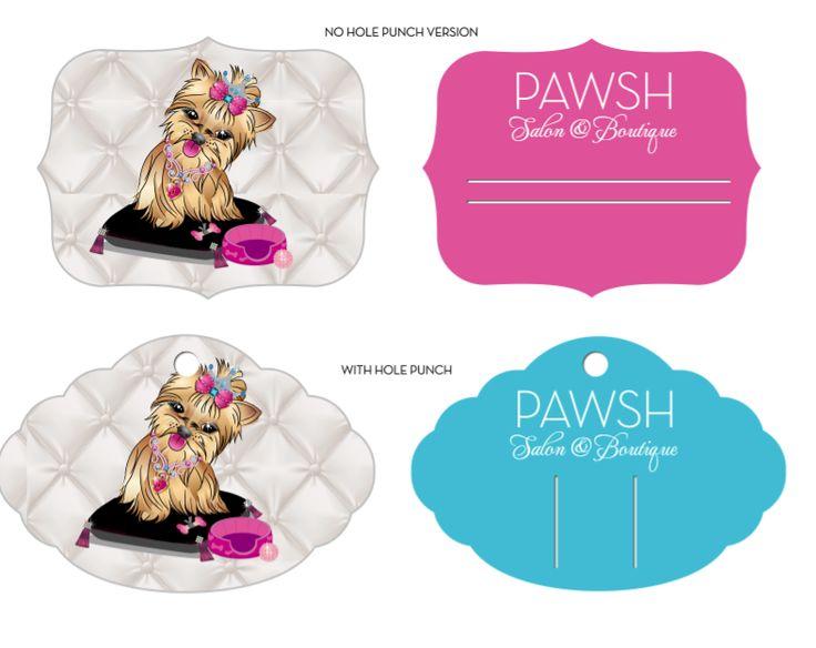 Pet Accessory Retail Tag Designs for Pawsh Pet Boutique  http://www.phrizbie-design.com/pet_boutique_designs.html