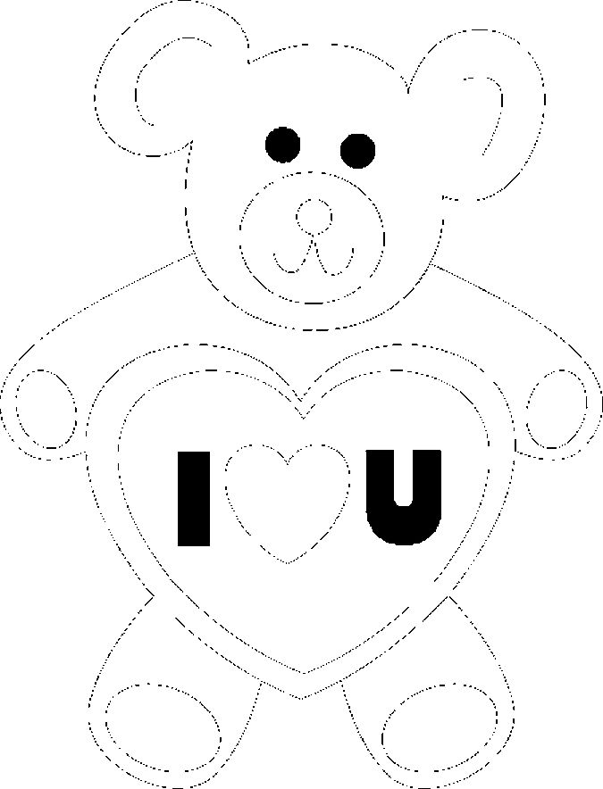 Teddy Bear 1 Coloring Page