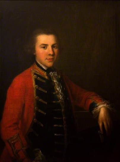 Portrait of a Young Officer in the Cheshire Militia- Angelica Kauffman