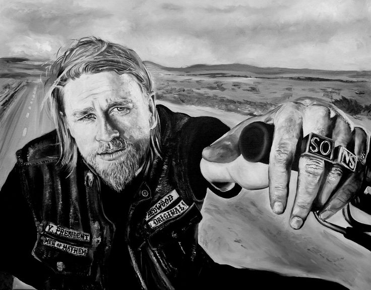 "Jax sons of anarchy 24"" x 30"" oils on canvas"