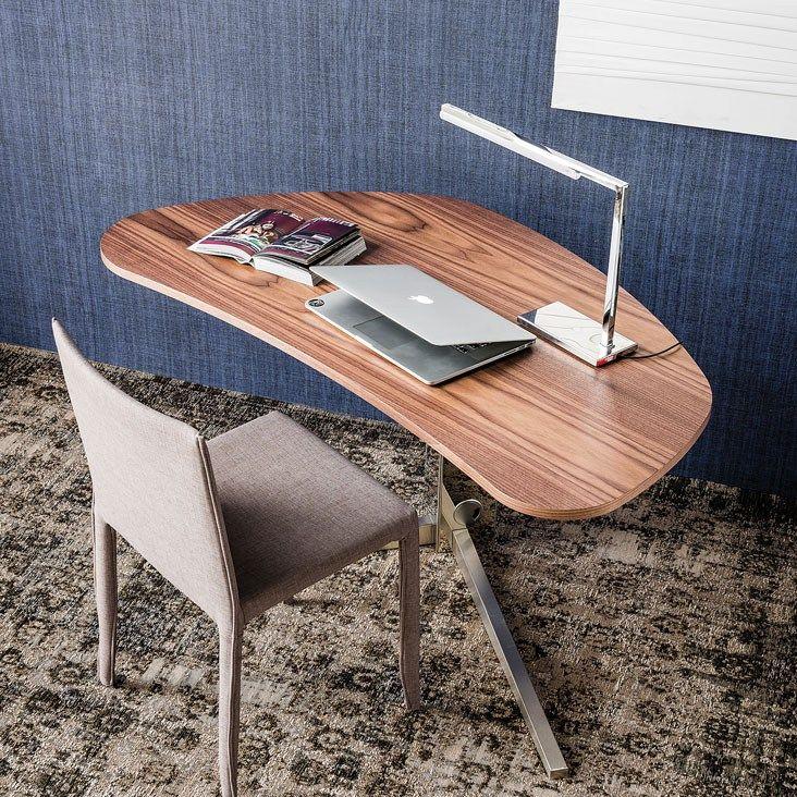 Walnut writing desk ISLAND - Cattelan Italia