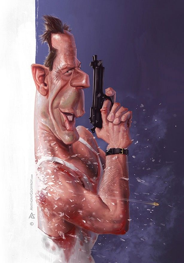 Bruce Willis   #Funny   #Caricature  #Celebrities