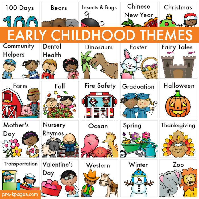 Early Childhood Themes for Preschool and Kindergarten