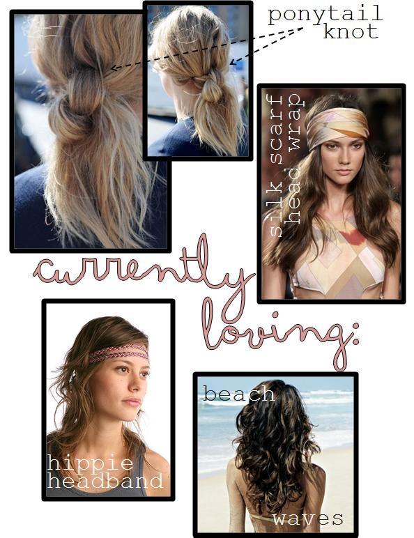 summer hair ponytail knot