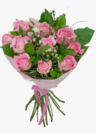 Pretty Pink Rose Bouquet