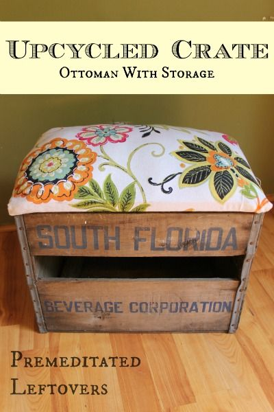DIY Upcycled crate | pallet furniture home decor