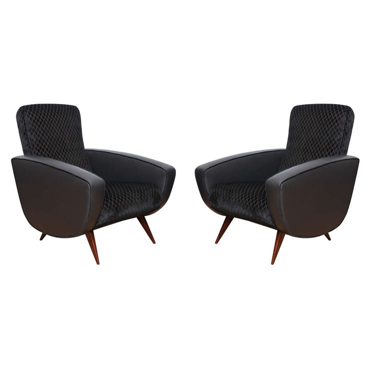 Pair of Fabulous Mid-Century Modern Armchairs   From a unique collection of antique and modern armchairs at https://www.1stdibs.com/furniture/seating/armchairs/
