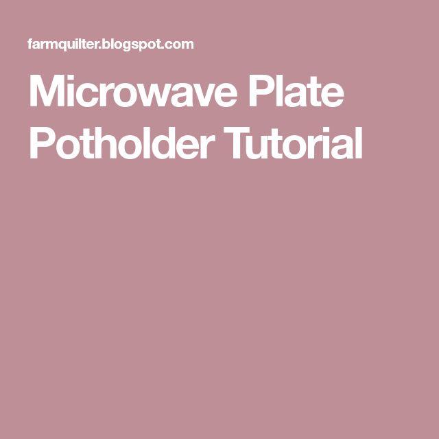 Microwave Plate Potholder Tutorial