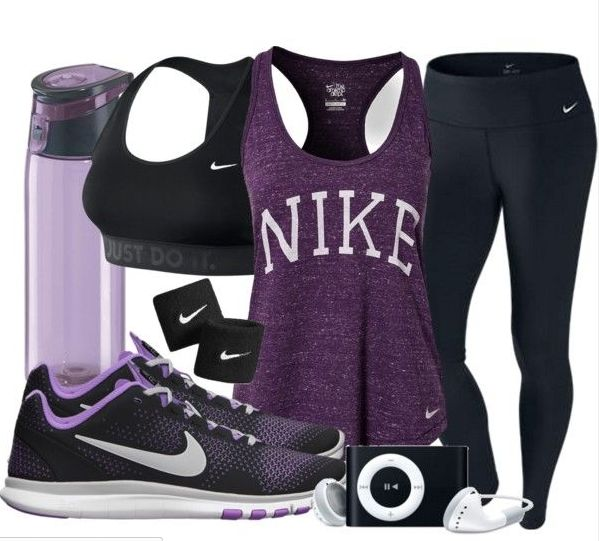 Nike Workout Outfit! Purple my fave