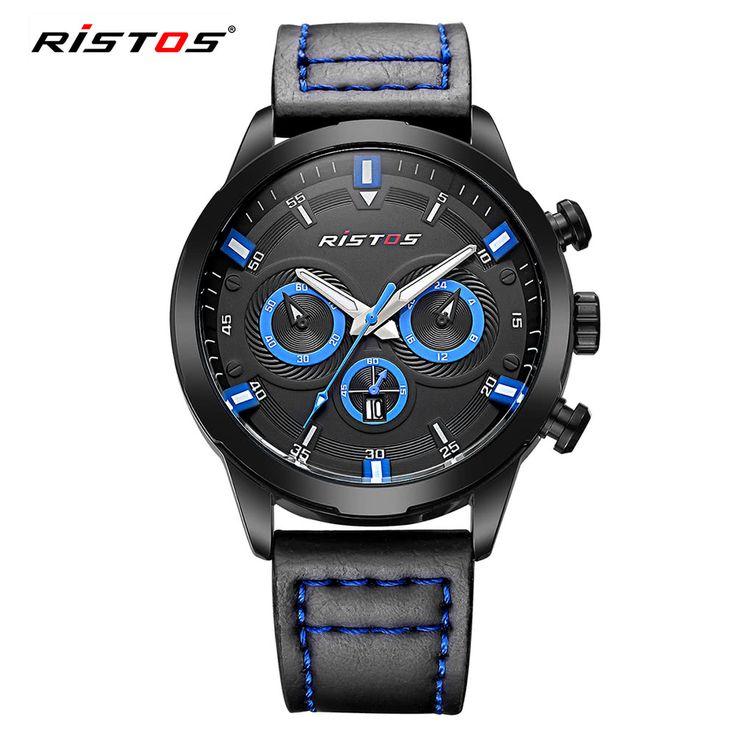 RISTOS 3ATM Water-resistant Sport Watch Men Quartz Watches Sales Online blue - Tomtop.com