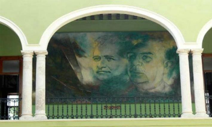 10 DATOS DEL MURALISTA FERNANDO PACHECO.- Entre sus obras más famosas destacan los murales que pintó en los 70's dentro del Palacio de Gobierno en Yucatán...