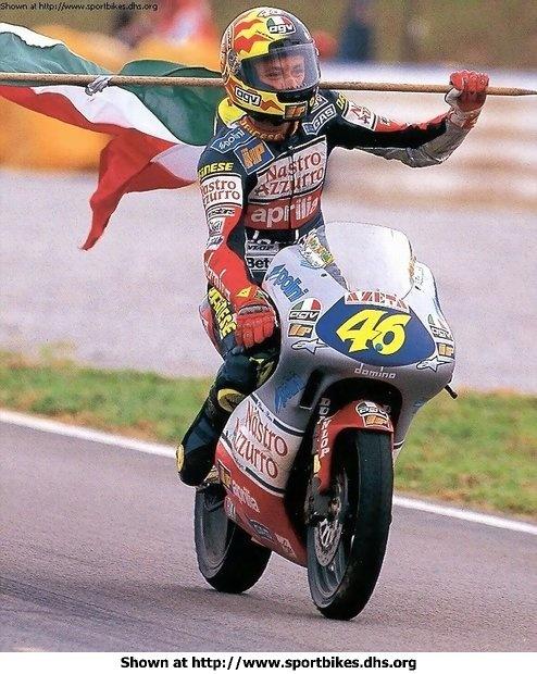 Valentino Rossi 1997  Aprilia RS125 Team Nastro Azzurro Championship year. When I first started following Rossi vr46 ✌️