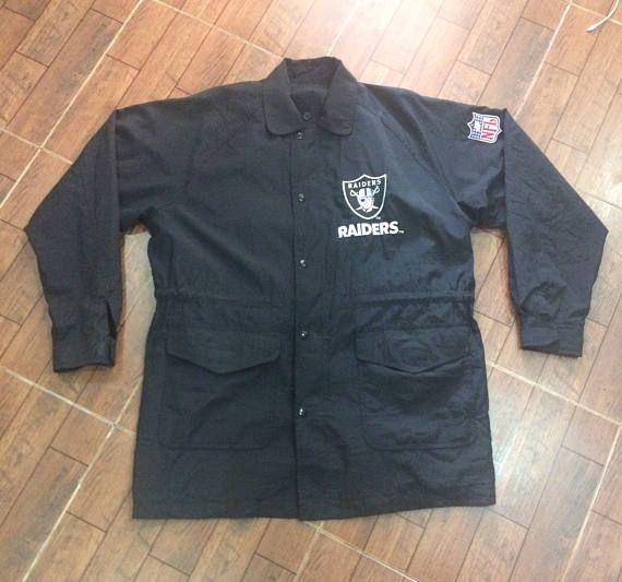Rare Vintage 90s Los Angeles Oakland Raiders Jacket Coat