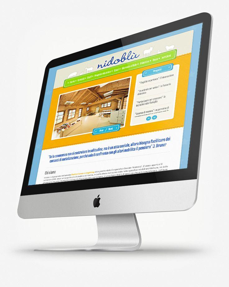 Performance in Lighting - Nidoblu: sito web per il Nido di proprietà dell'azienda