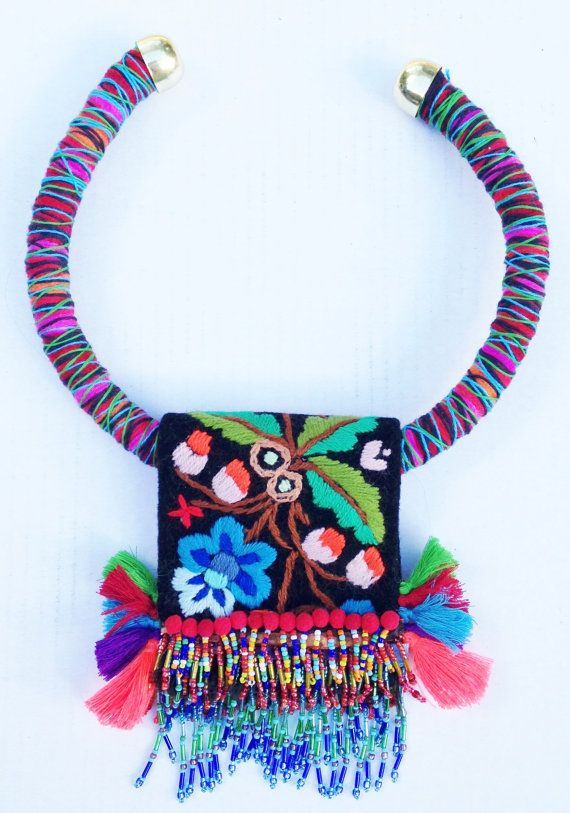 Irinel Popescu - Bohemian folk embroidery beaded tassels and fringes by Diomios