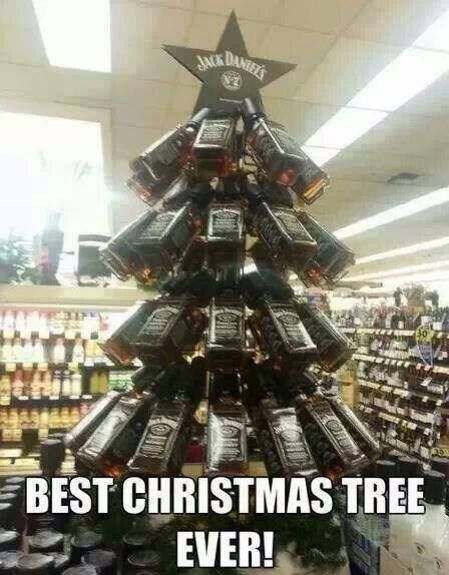 Jack Daniels Christmas tree #whiskey #Bottletree