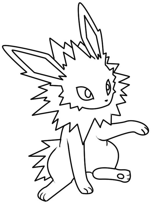 Pokemon Coloring Pages Jolteon Coloringpages Coloringpagesfree